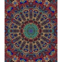 Handmade 100-percent Cotton 3D Psychedelic Sunburst Tapestry Tablecloth Bedspread in Twin 60x90 & Full 85x100
