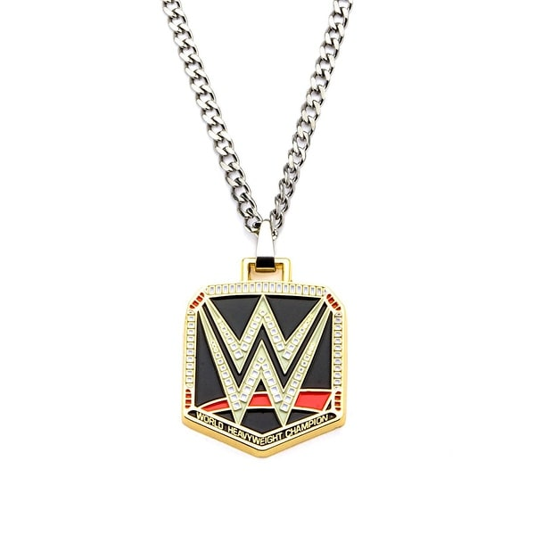 WWE Logo Stainless Steel Pendant Necklace