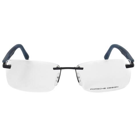 Porsche Design P8232 D Rectangular Matte Silver Blue Eyeglass Frames