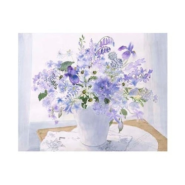 ''Blue Floral Spray'' by Celia Russell Floral Art Print (15.75 x 19.75 in.)
