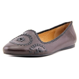 Jack Rogers Waverly Women Round Toe Leather Brown Flats