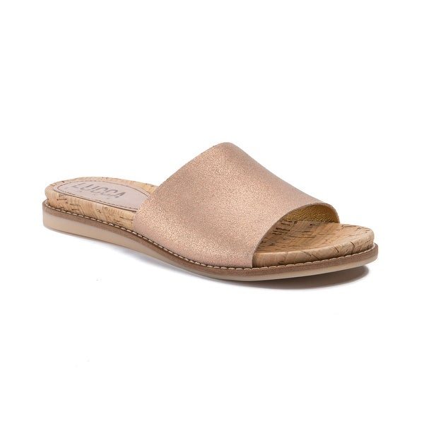 Lucca Lane Bailey Women's Sandals Brushed Rose Gold