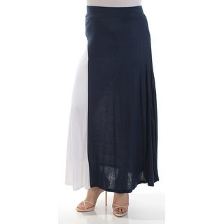 INC Womens Navy Color Block Maxi Circle Skirt  Size: M