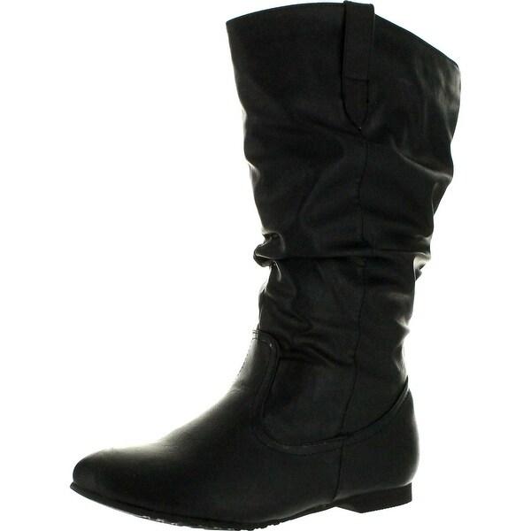 Reneeze Womens Art-02 Mid-Calf Boots - Black