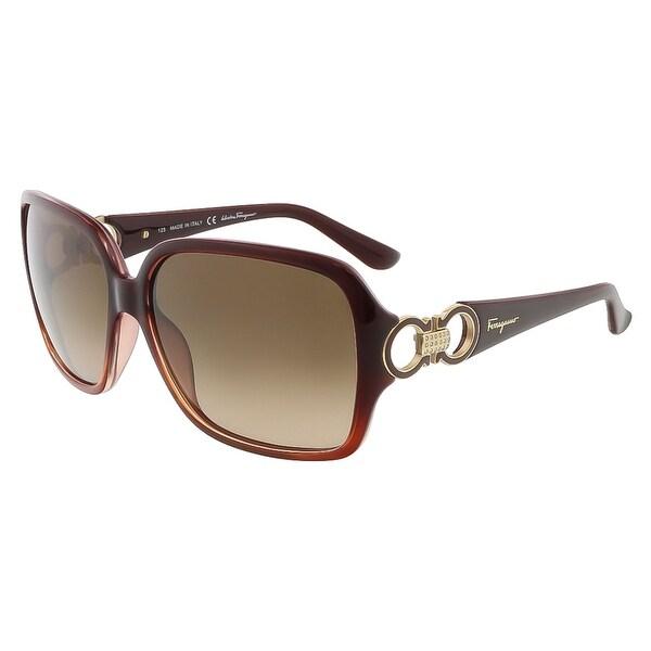 Salvatore Ferragamo SF620SR 223 Crystal Rust Oversized Square sunglasses - 59-14-125