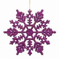4 in. Purple Glitter Snowflake 24-Pvc Box