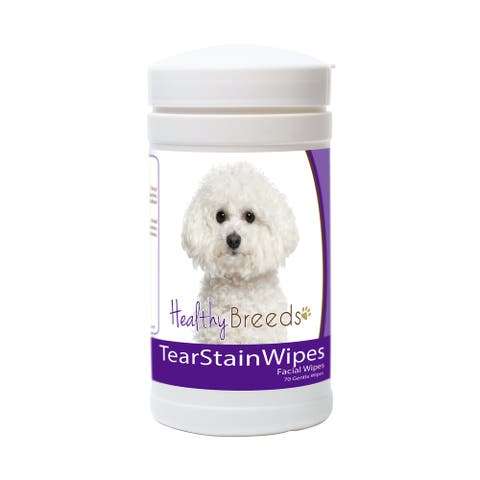 Healthy Breeds Bichon Frise Tear Stain Wipes 70 Ct