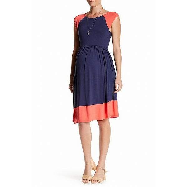 dfd8a40c034 Shop Kimi + Kai Women s Medium Colorblock Maternity Dress - Free Shipping  On Orders Over  45 - Overstock - 27049636