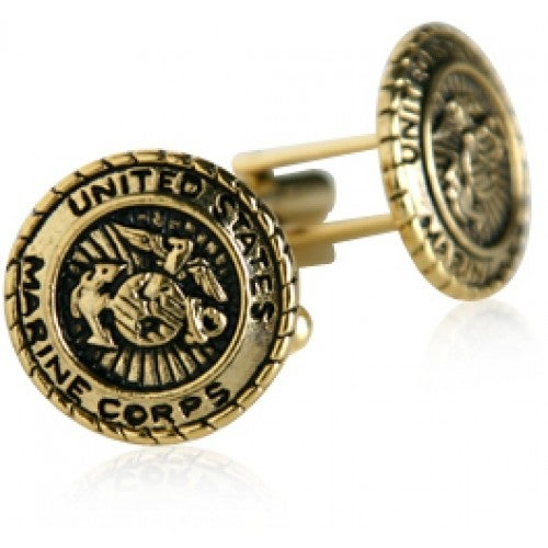 USMC Marine Corp Cufflinks Gold Military