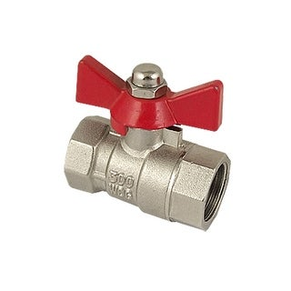 Water Gas Flow Control Red Handle 1/2 Hole Ball Valve
