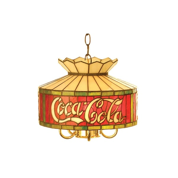 Meyda Tiffany 29258 Six Light Down Lighting Pendant from the Coca-Cola Collection