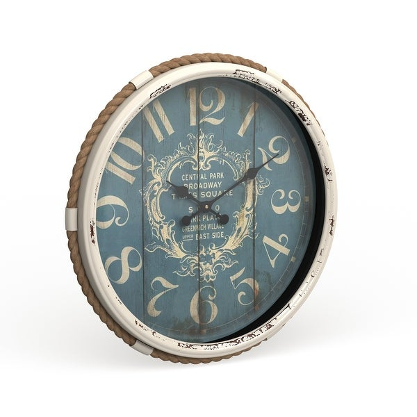 The Gray Barn Cocklebur Metal Rope Glass Wall Clock. Opens flyout.