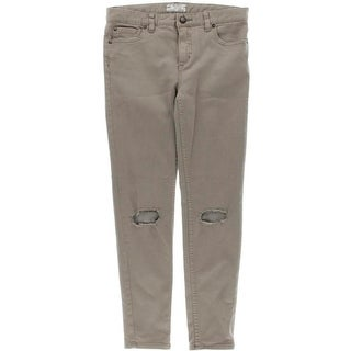 Free People Womens Twill Destroyed Skinny Jeans - 28