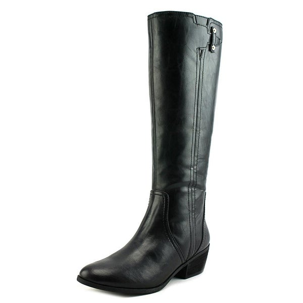 Dr. Scholl's Brilliance Women Round Toe Leather Black Knee High Boot