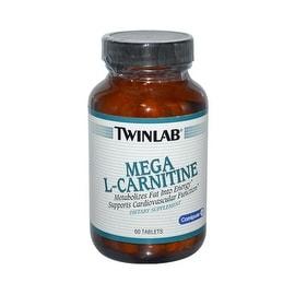 Twinlab Mega L-Carnitine - 500 mg - 60 Tablets