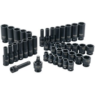 Dewalt DWMT19248 0.37 in. Drive Combination Impact Socket Set - 6 Point, 42 Piece
