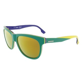 Diesel DL0112/S 95G Green/Yellow&Blue Rectangle sunglasses - 56-16-140