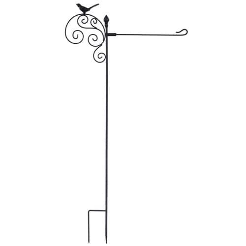 Bird Scroll Garden Flag Stand