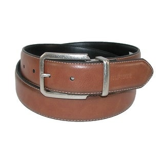 Tommy Hilfiger Men's Contrast Stitch Tan to Black Reversible Belt - tan to black