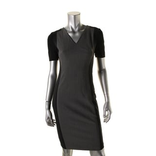 Elie Tahari Womens Alessia Casual Dress Sheath Knee Length