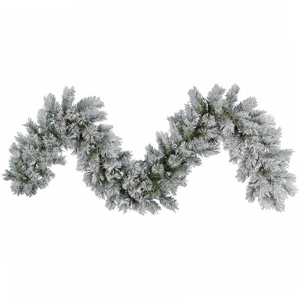 """9' x 14"""" Frosted Pine Artificial Christmas Garland - Unlit"""