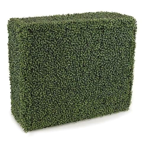 Autograph Foliages A-135640 36 in. Polyblend Boxwood Hedge Tutone Green