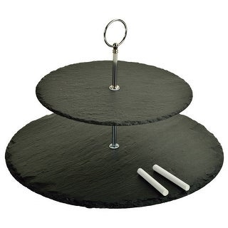 Picnic at Ascot Serat Two Layer Round Slate Server (CB52)