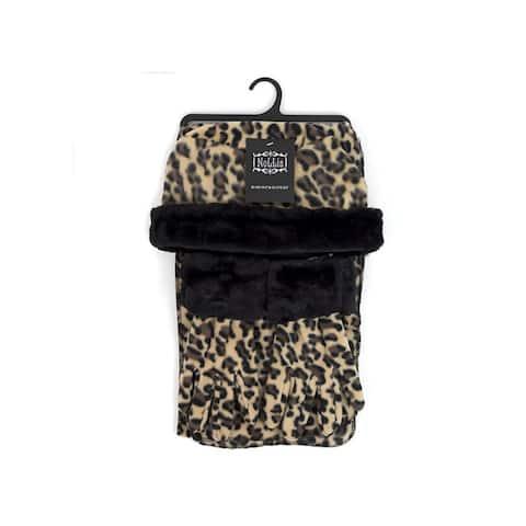 Girl's (10-16 Years Old) Fleece Leopard Print with Fur Trim Winter Set - Regular