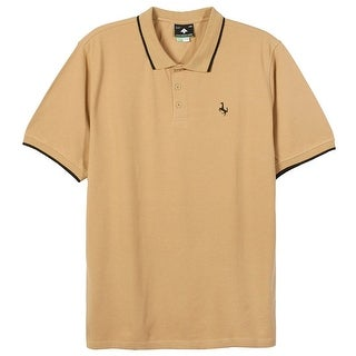LRG NEW Beige Mens Size Small S Embroidered Logo Polo Rugby Shirt