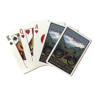 St. Regis, Montana - Route of the Hiawatha Mountain Bike Scene - Lantern Press Artwork (Poker Playing Cards Deck)