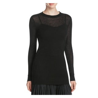 DKNY Womens Petites Pullover Top Ribbed Long Sleeves (2 options available)