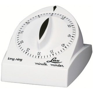 Lux CP1929-14 Minute Minder Mechanical Long Ring Timer, White, 60 Min