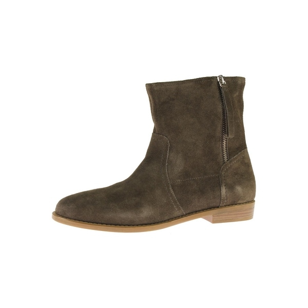 Steve Madden Womens Constant Ankle Boots Suede Round Toe