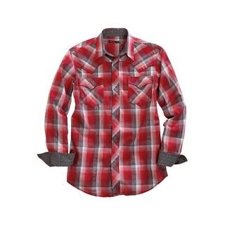Tin Haul Western Shirt Mens Flag L/S Snap Red