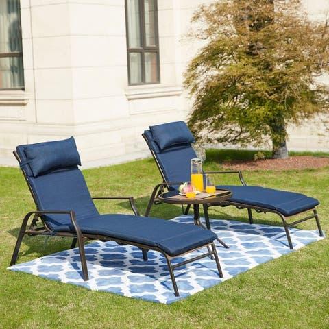 Patio Festival Outdoor Chaise Lounge 3-piece Set