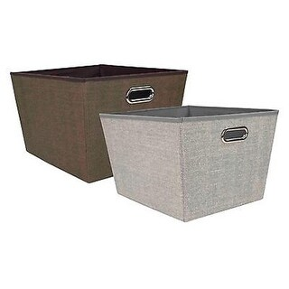 Home Basics SB49620 Jute Fabric Storage Bin - Large