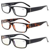 Eyekepper 3-Pack Quality Spring-Hinges Reading Glasses Include Computer Glasses +1.25