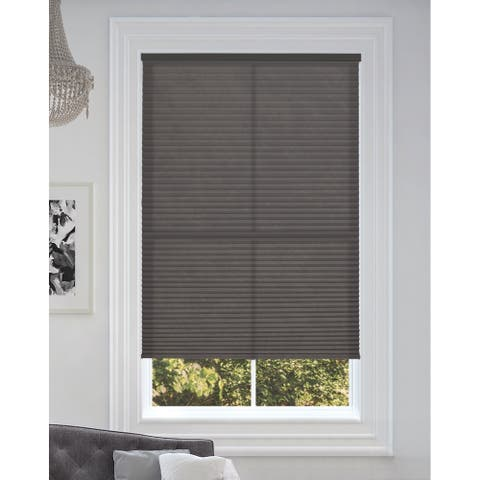 """BlindsAvenue Cordless Light Filtering Cellular Honeycomb Shade, 9/16"""" Single Cell, Anthracite"""