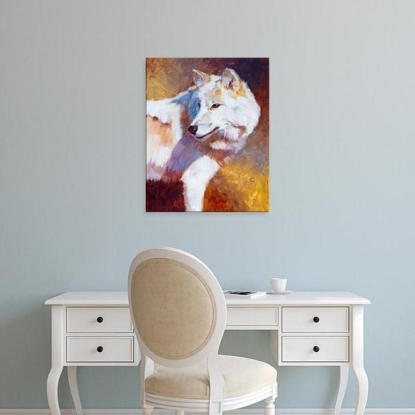 Easy Art Prints Julie T. Chapman's 'White Wolf' Premium Canvas Art