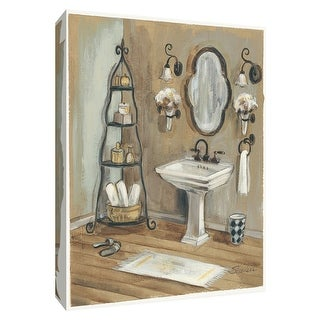 "PTM Images 9-154384  PTM Canvas Collection 10"" x 8"" - ""French Bath I"" Giclee Bathroom Art Print on Canvas"