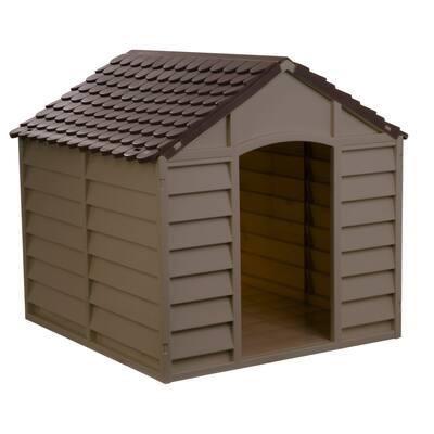 Starplast Large Dog House, Mocha Brown