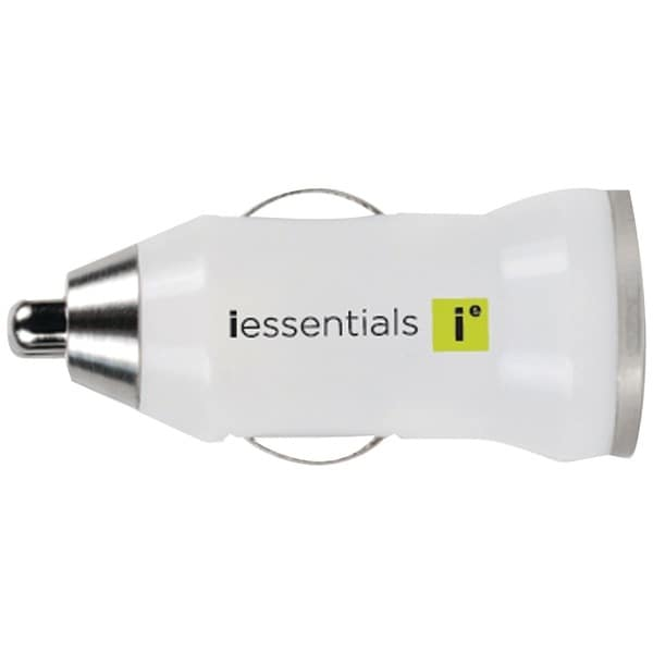 Iessentials Ie-Pcpusb-Wt Iphone(R)/Ipod(R)/Smartphone 1-Amp Usb Car Charger (White)