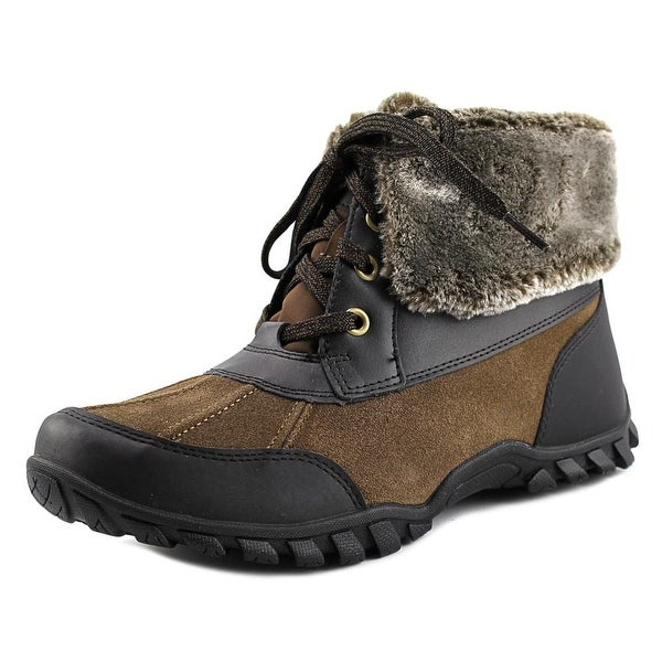 Easy Spirit Nuria Women Round Toe Leather Brown Winter Boot