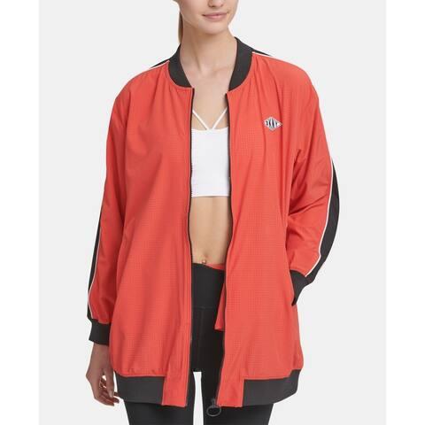 Dkny Sport Women's Long-Line Bomber Jacket, Small