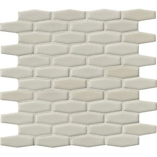 """MSI PT-AW-HEXEL  12"""" x 12"""" Marque Mosaic Wall Tile - Smooth Ceramic Visual - Sold by Carton (10 SF/Carton) - Glossy"""