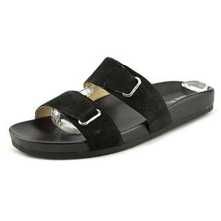 Nine West Zedge Women Open Toe Leather Slides Sandal