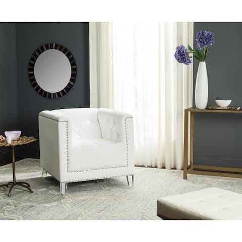"""SAFAVIEH Carine White/ Clear Club Chair - 31.9"""" x 33.9"""" x 29.9"""""""