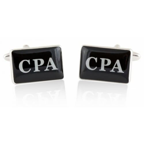 CPA Accountant Education Celebration Certified  Cufflinks