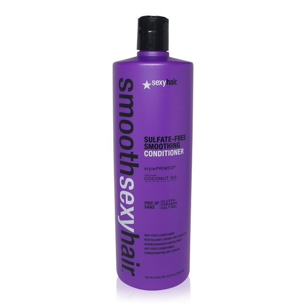Sexy Hair Smooth Sulfate Free Smoothing Anti Frizz Conditioner 33.8 Oz