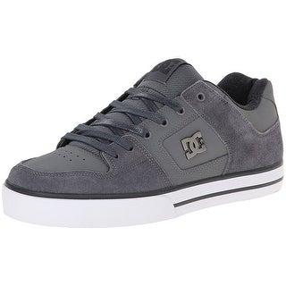 DC Men's Pure XE Skate Shoe - grey/grey/white